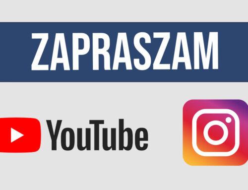Zapraszam na instagram i YouTube